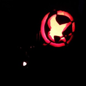 my pumpkin last Halloween (o: